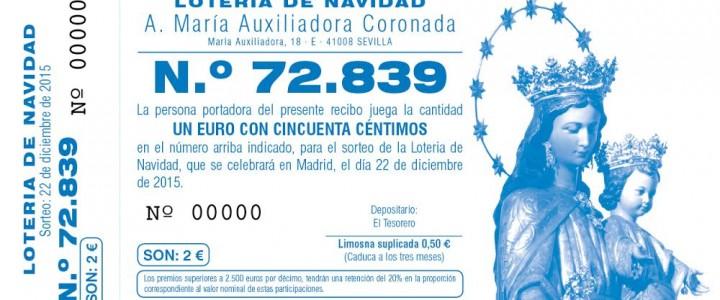 La Archicofradía pone a la venta su lotería de Navidad 2015